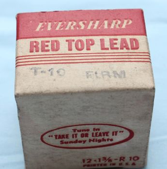 """Eversharp """"Red Top"""" 0.9mm Leads T-10 Firm  (S104)"""