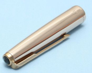 Parker 61 Custom Cap in Rolled Gold. Made in the UK. (S300)