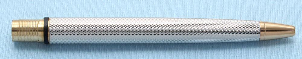 Watermans Exclusive Ball Pen Barrel in Fine Barley Silver (S502)