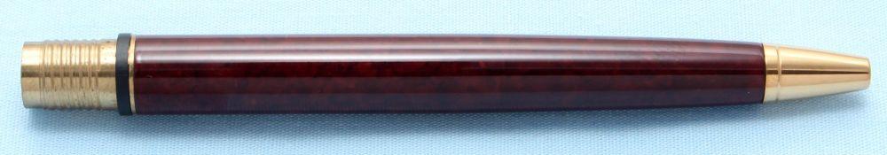 Watermans Exclusive Ball Pen Barrel in Dark Brown Marble (S506)
