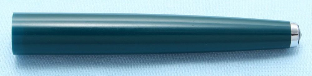 Parker 61 Fountain Pen Barrel in Teal Blue with Chrome Tassie and Grey Jewe