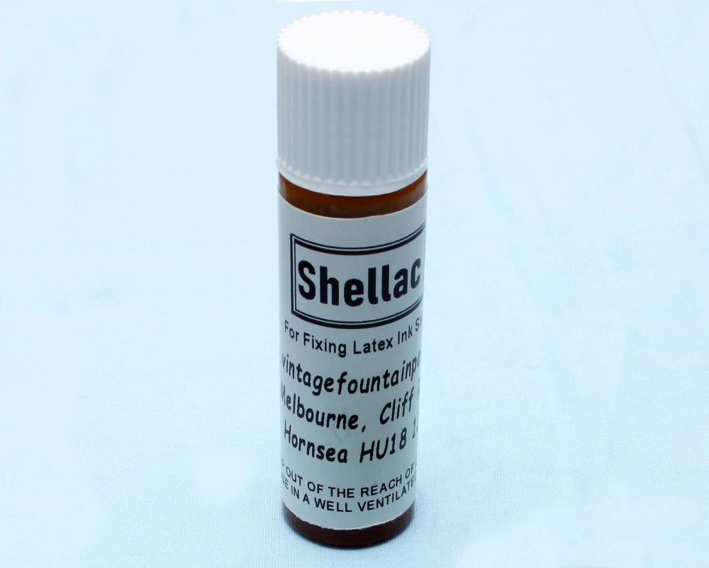 S100  - 10ml Bottle of Shellac for fixing ink sacs.