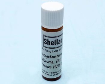C106 - 10ml Bottle of Shellac for fixing ink sacs.