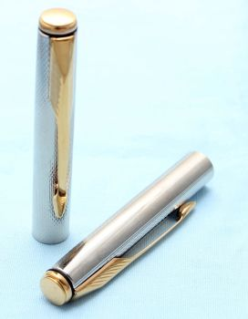 Parker Insignia Pencil Cap in Silver Plated Grain D'Orge with 14K Dimonite Trim. (S236)
