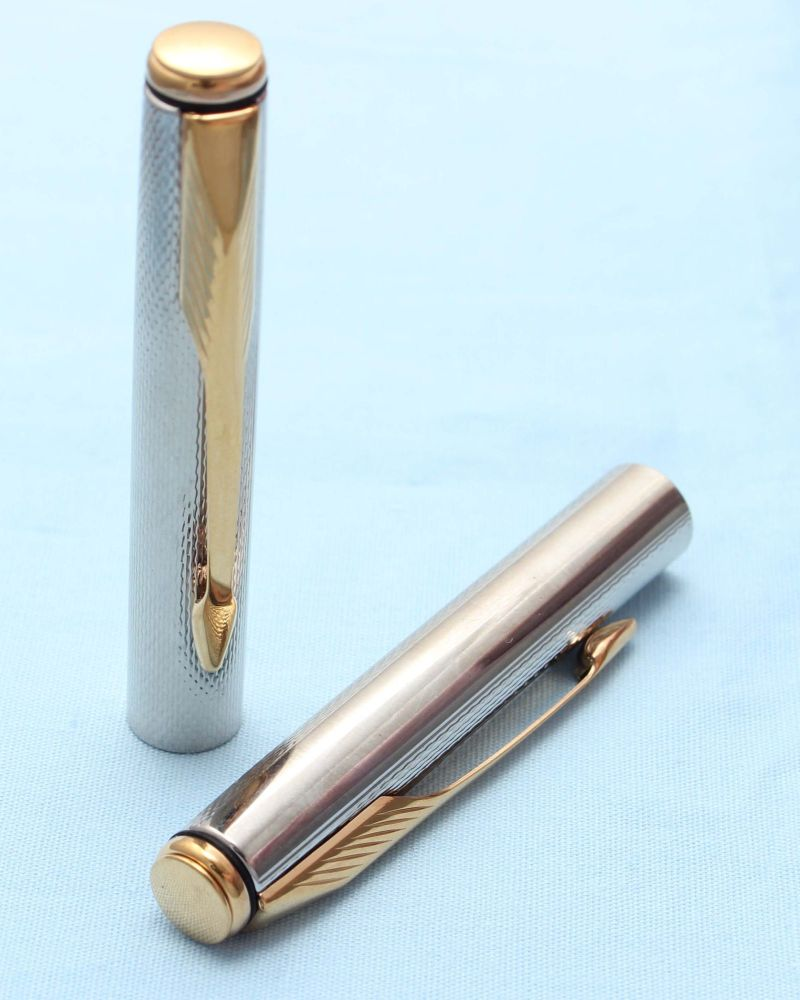 Parker Insignia Pencil Cap. Brushed SS with 14K Dimonite Trim. (S235)