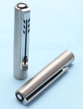 """Parker 15 """"Mixy"""" Pencil Cap in Brushed SS with Chrome Trim. (S233)"""