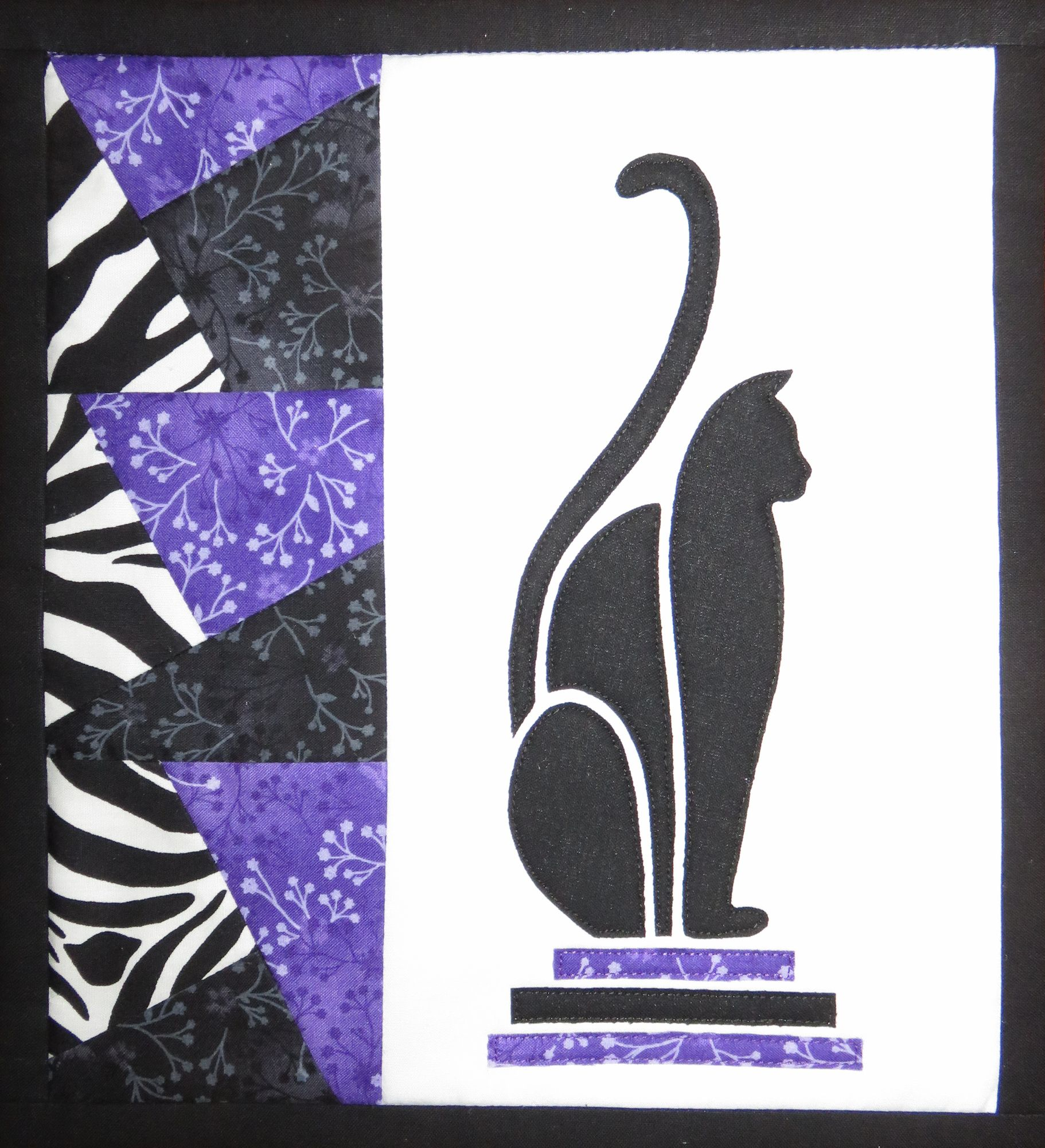 Purple Art Deco Cat