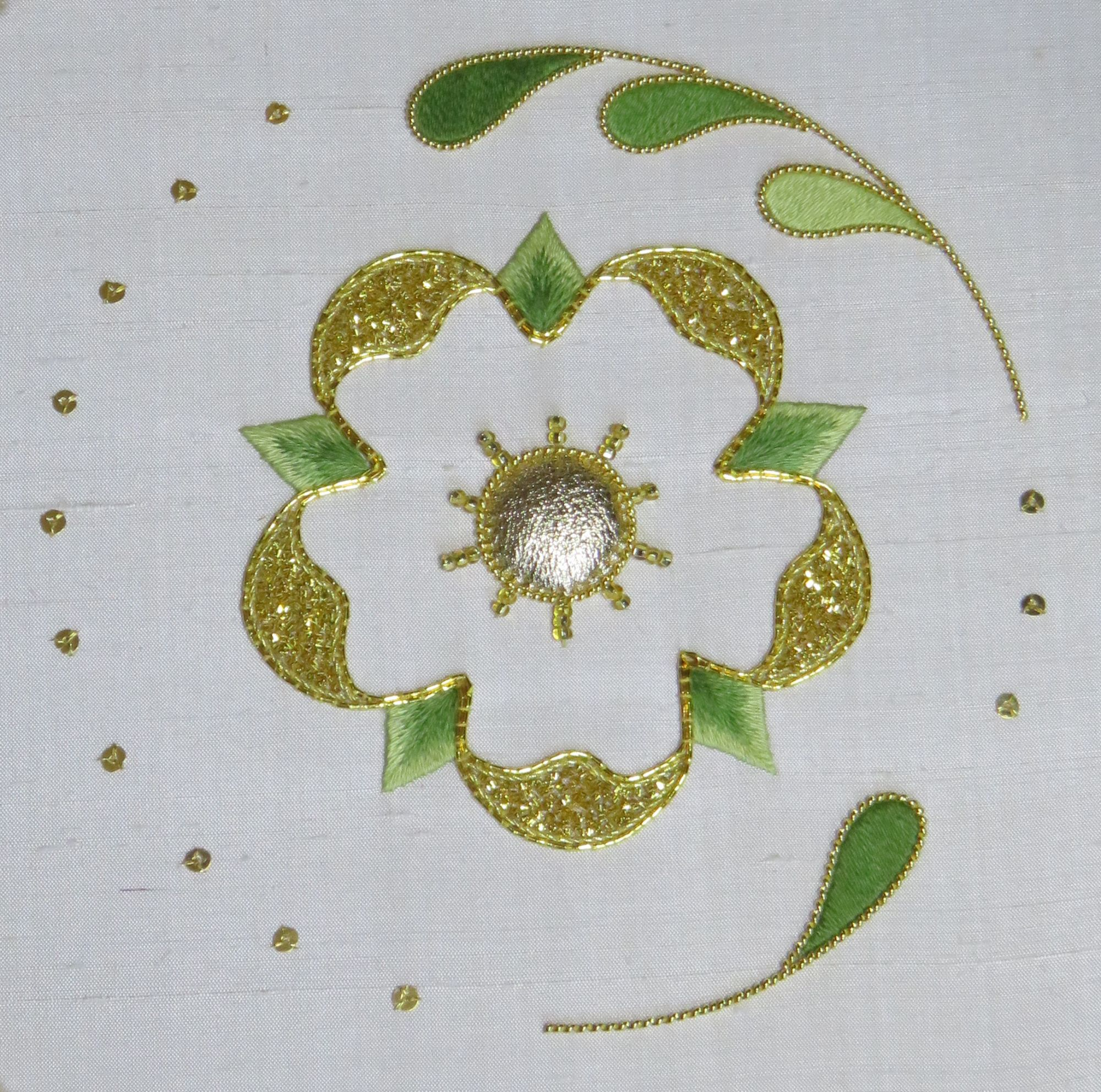 Goldwork Rose Embroidery