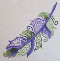 Hummingbird Feather crewel work embroidery kit.
