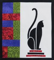 Art Deco Cat - patchwork kit - multicoloured.