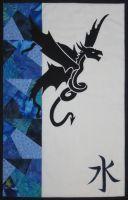 Water Dragon - patchwork kit.
