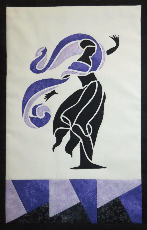 Art Nouveau Figure - patchwork kit - purple