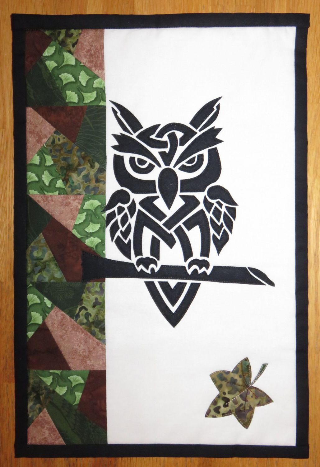 Grumpy Owl Day - patchwork kit.