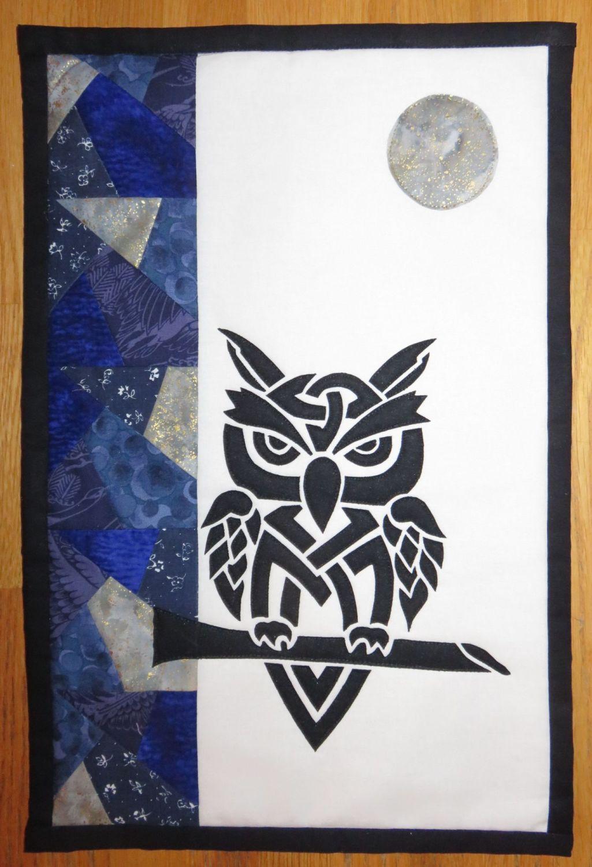 Grumpy Owl Night - patchwork kit.