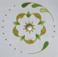 Goldwork Embroidery Kit - Rose