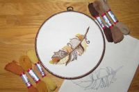 Golden Eagle Feather Embroidery Kit.