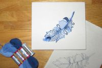 Bluebird Sparkly Feather Embroidery Kit.