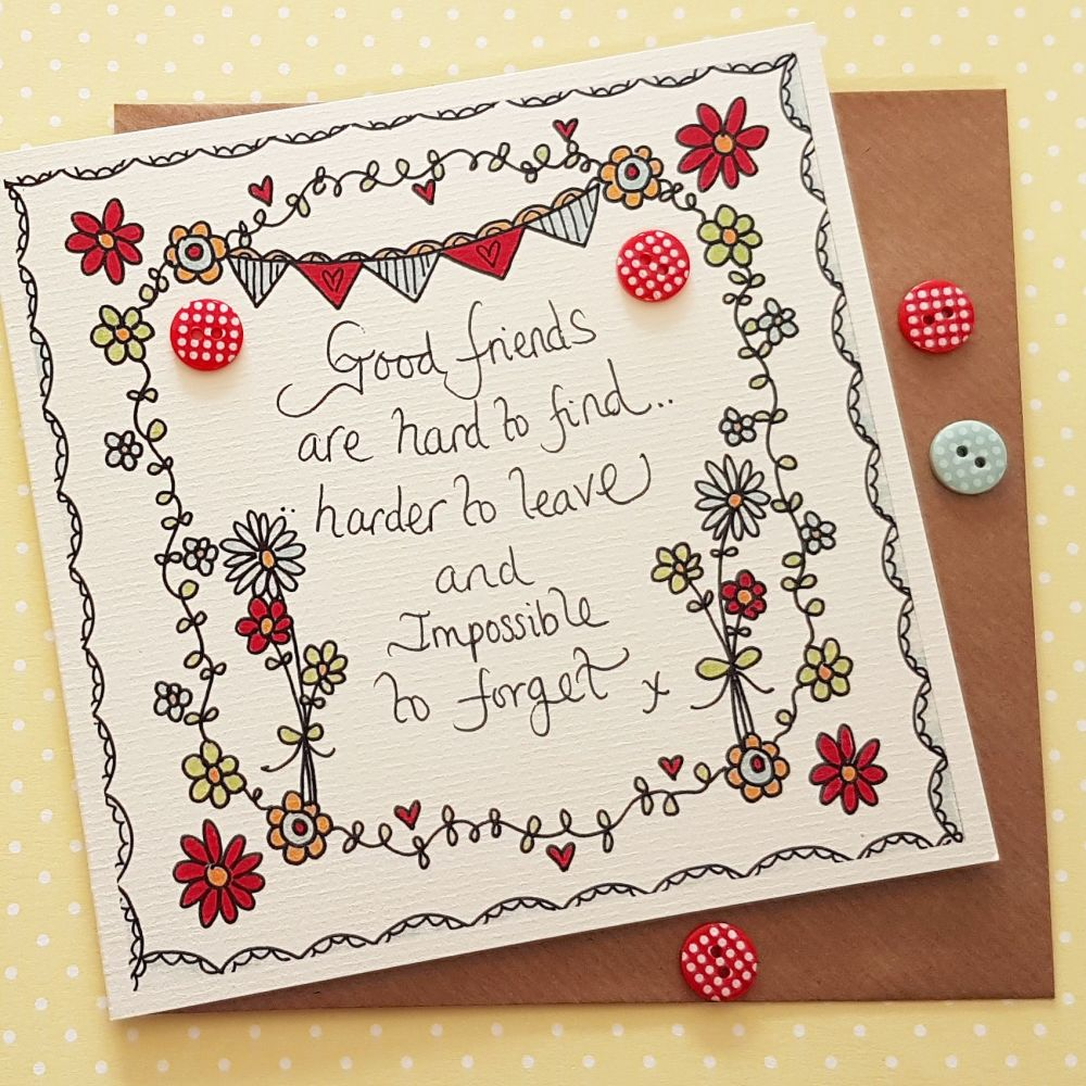 Folky flower and bunting