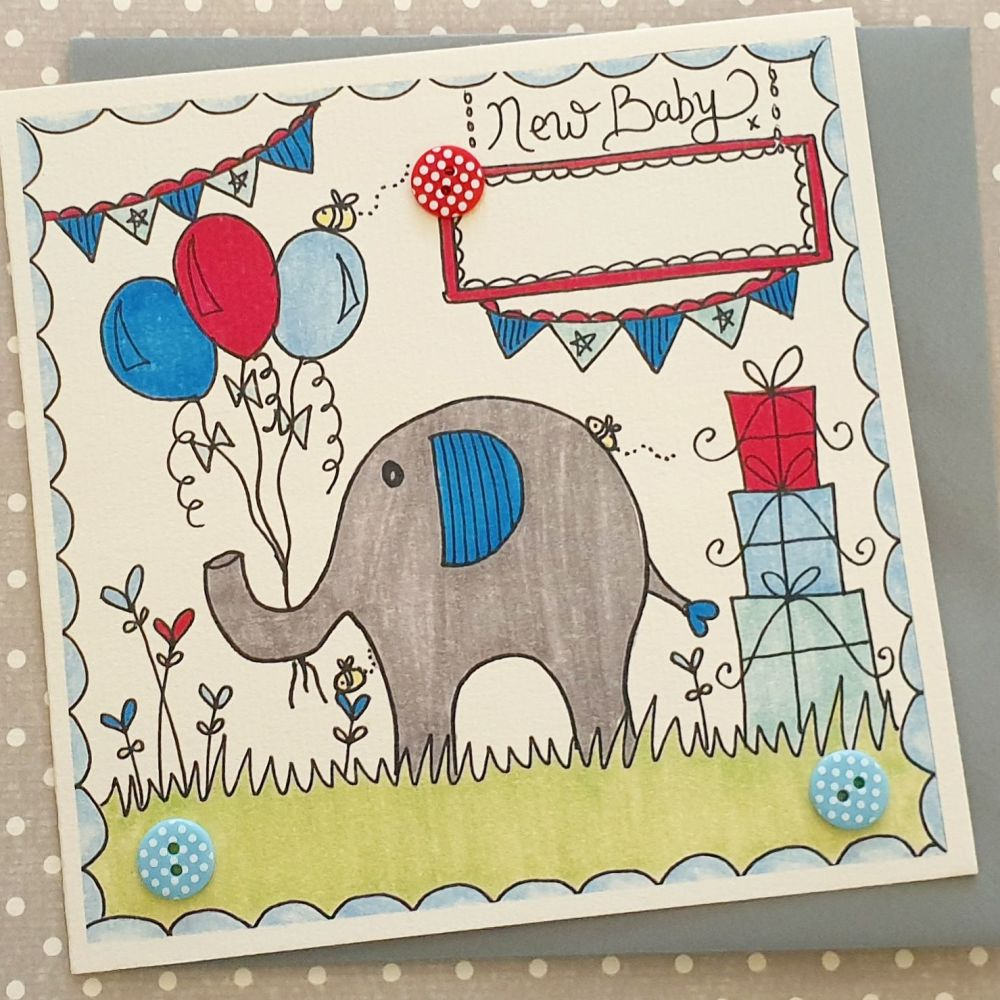 Elephant, balloons, bunting and buzzy bee