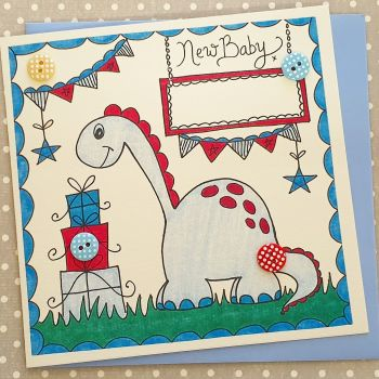 Baby Boy Dinky Dinosaur, bunting and presents