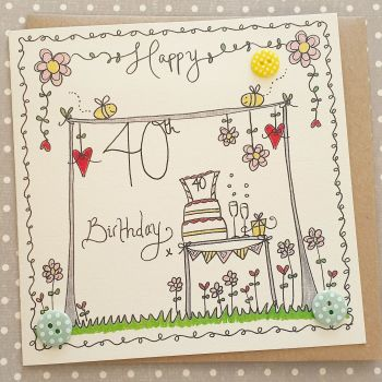 Buzzy Bee and Washing line card