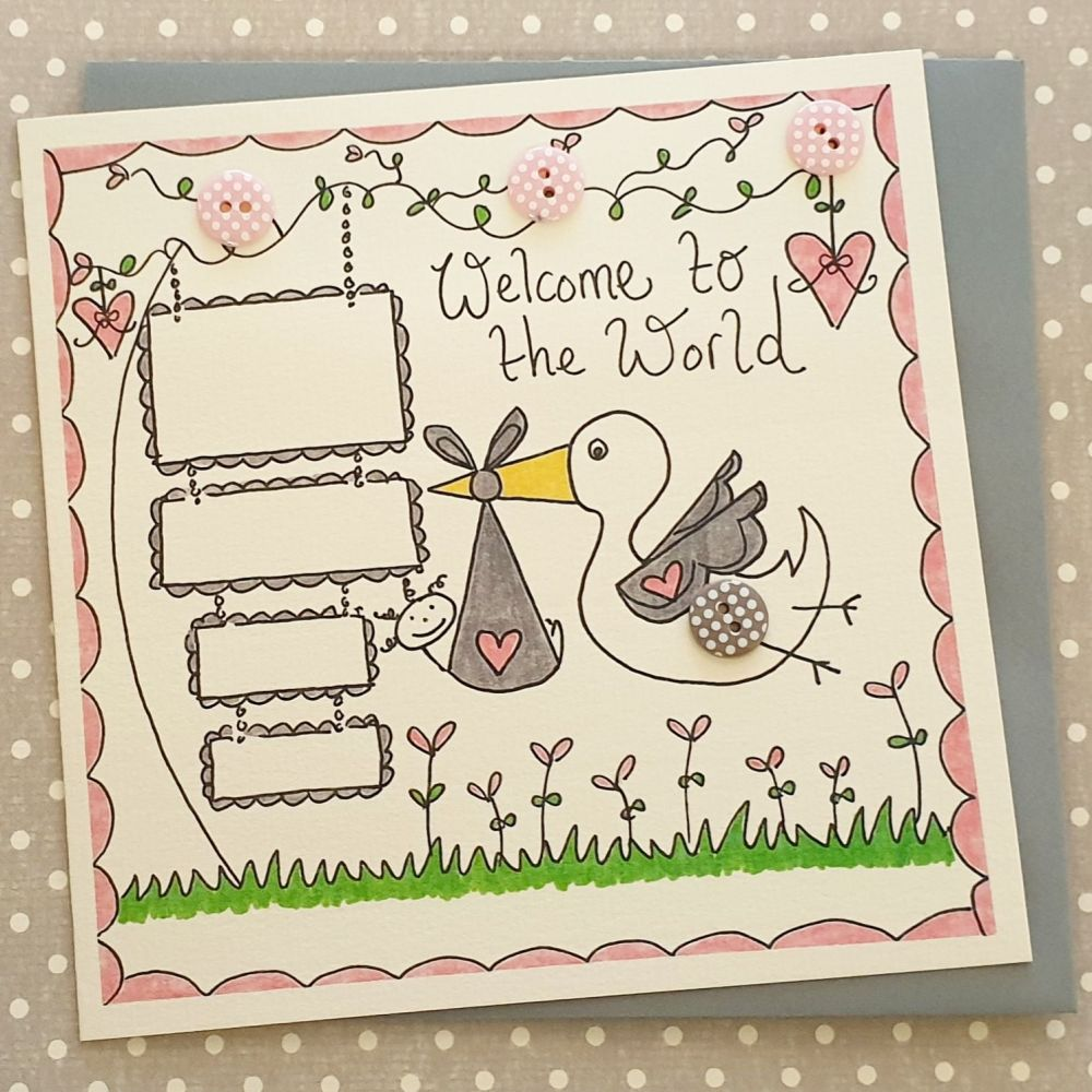 Baby Girl Stork Delivery