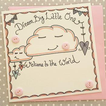 Baby Girl Dream Big Little One
