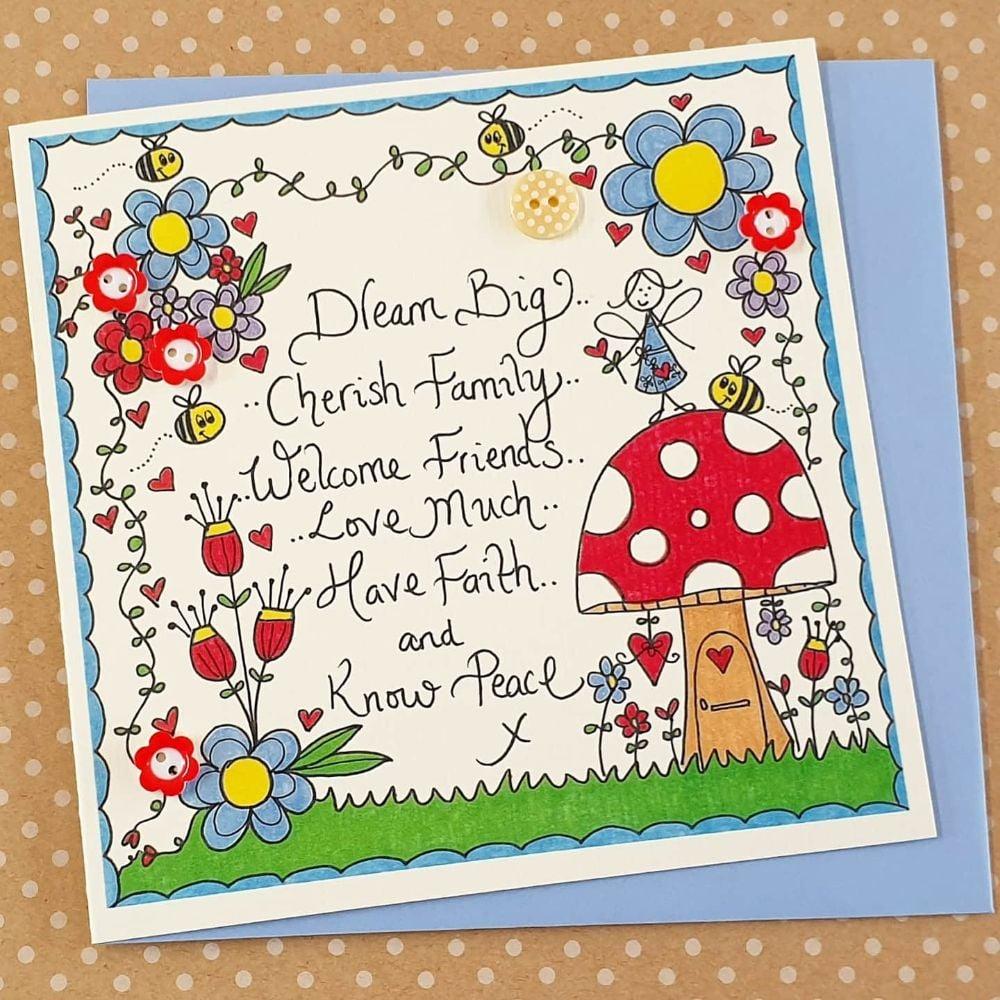 Fairy Theme Birthday Cards