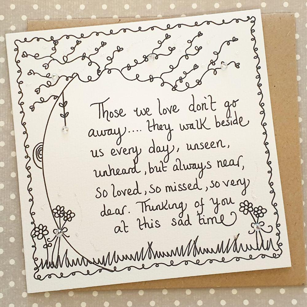 Sympathy Cards and Memorial Keepsakes