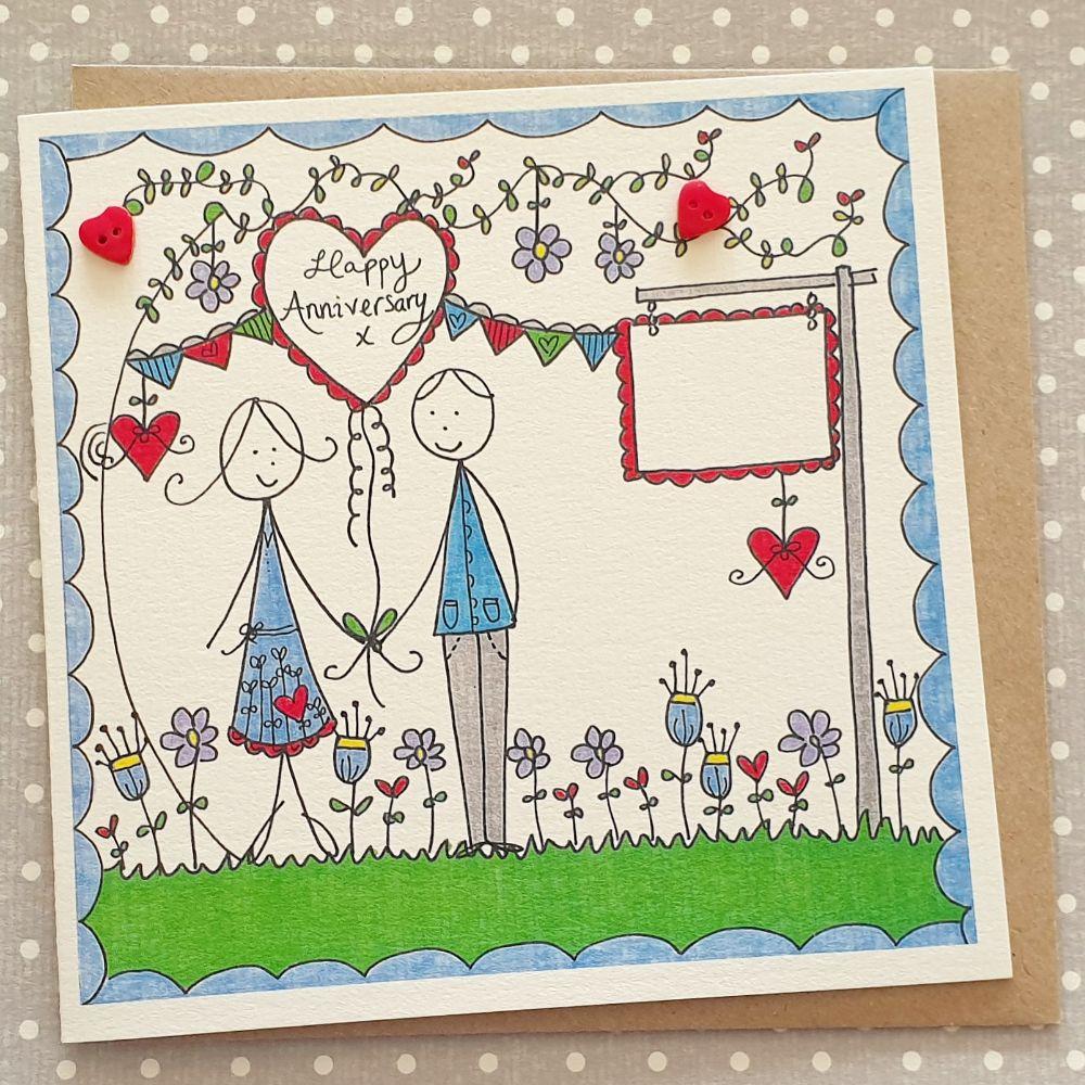 Anniversary Cards and Keepsake Anniversary Hearts