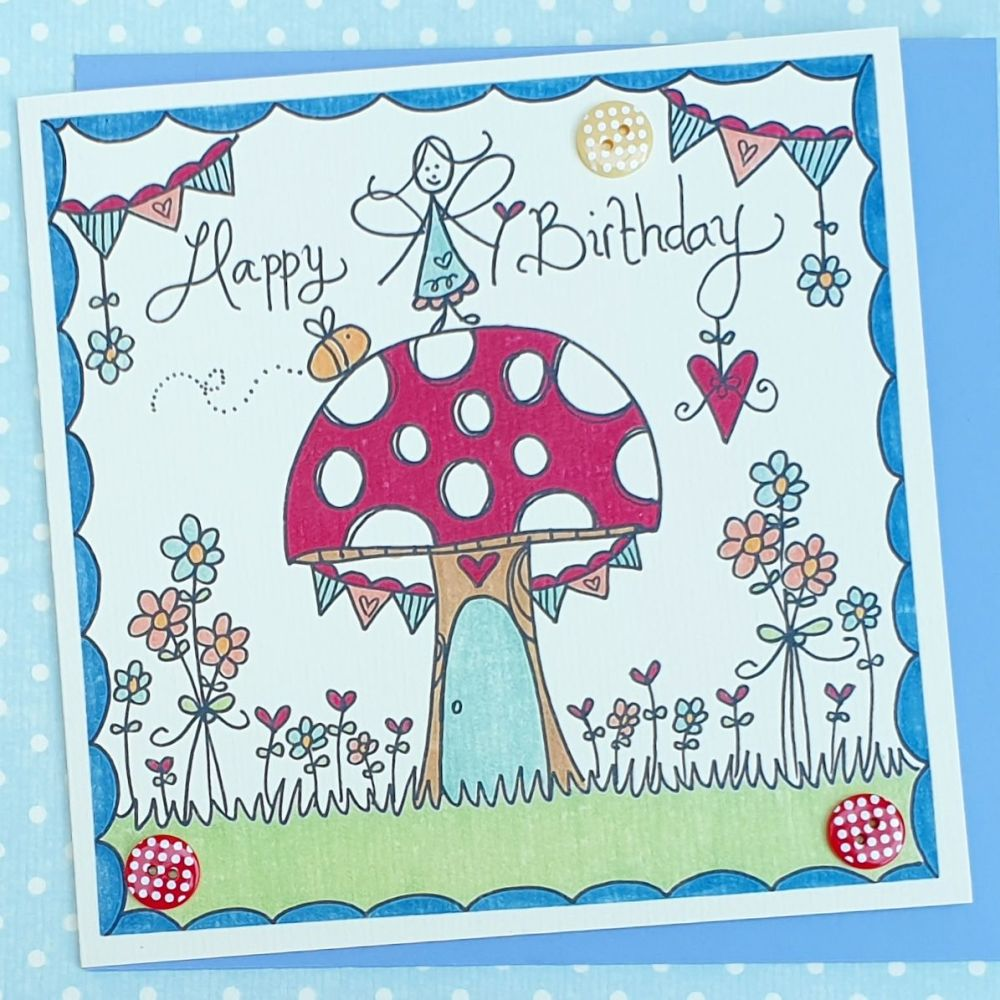 Fairy Toadstool House and Bunting