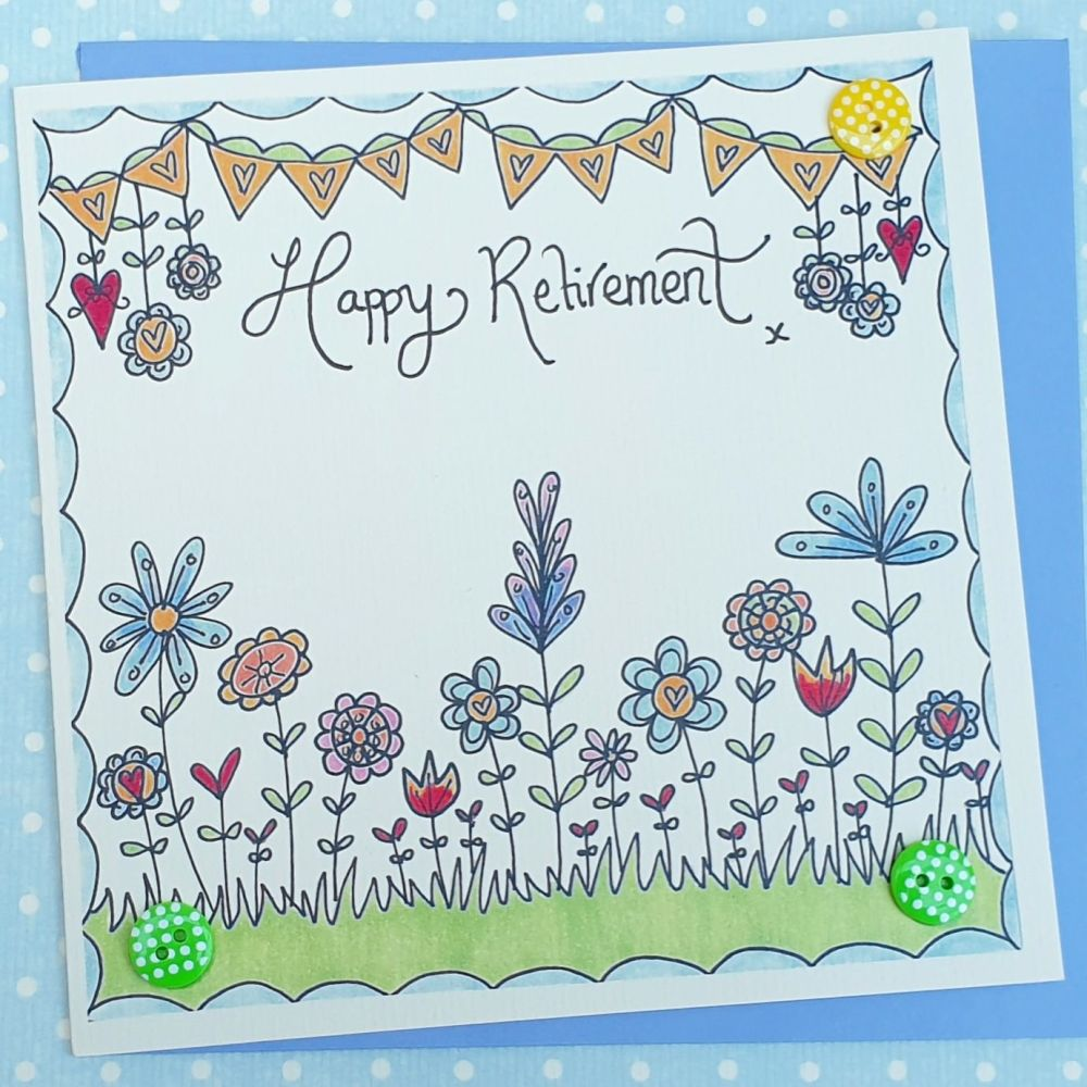 Retirement flowers and Bunting