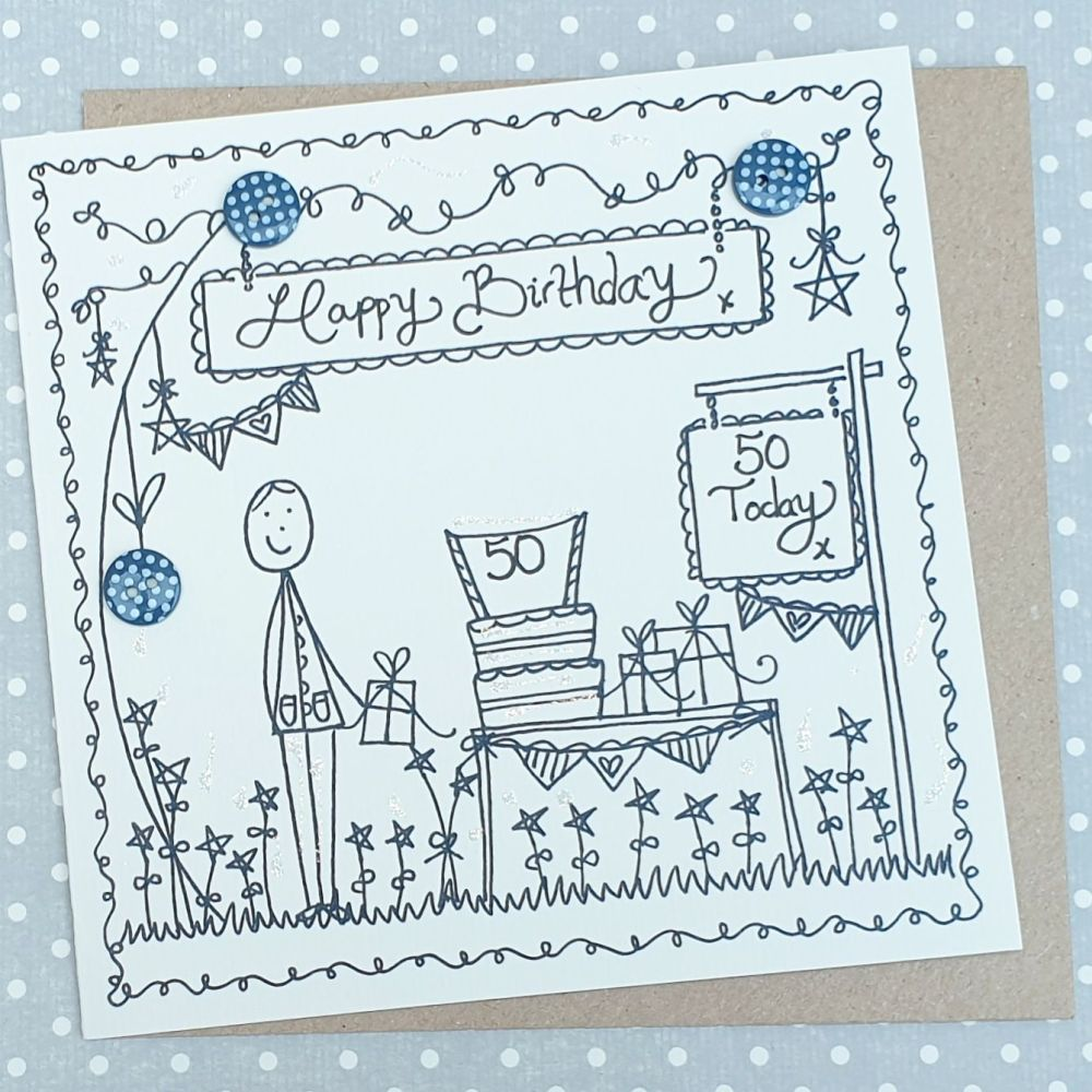 A Special Male Birthday Card