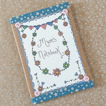 Pretty floral, bunting Notebook