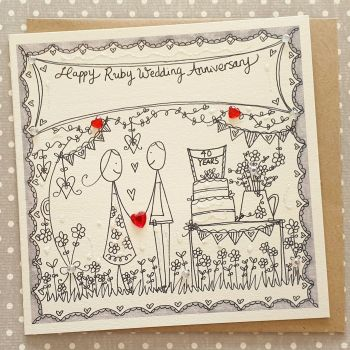 40 Ruby Years Couple