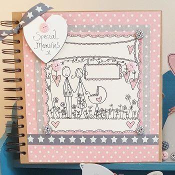 Baby Girl Keepsake Special Memory Scrapbook