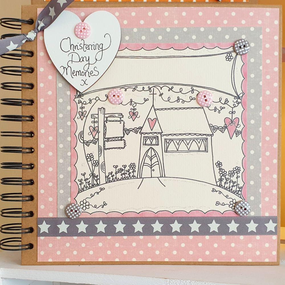 Girl Christening Day Keepsake Special Memories Scrapbook