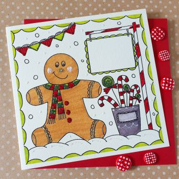 Gingerbread Boy and Candy Canes