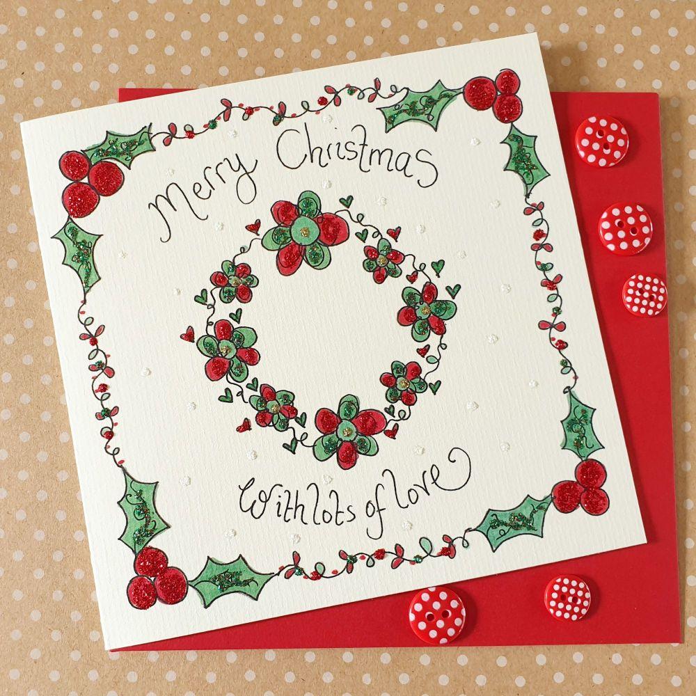Merry Christmas Sparkle Wreath