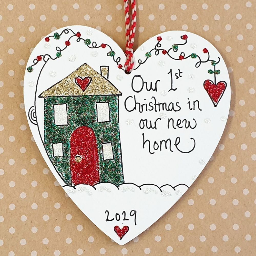 First Christmas in New Home Heart