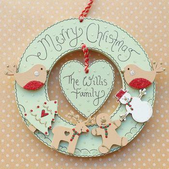 Personalised Christmas Mini Wreath