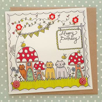 Cats, toadstools and buzzy bees