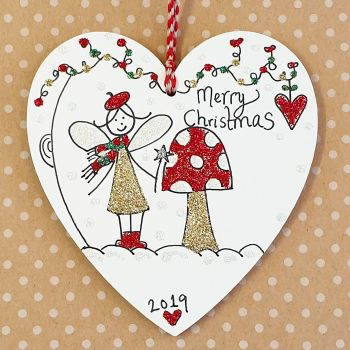 Christmas Fairy and Toadstool