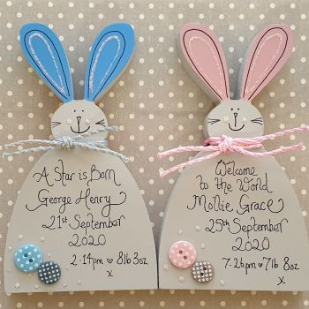 Cute Personalised Free Standing Bunny