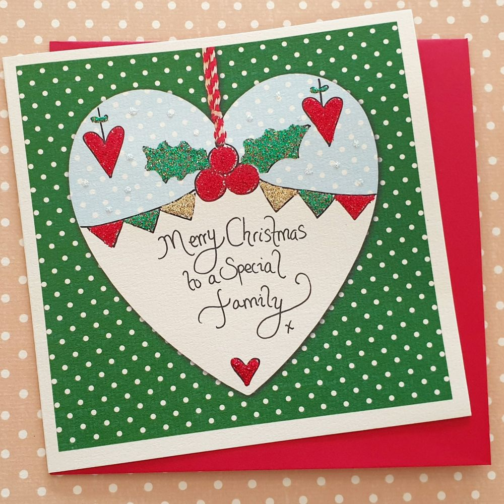 Holly and Bunting Heart