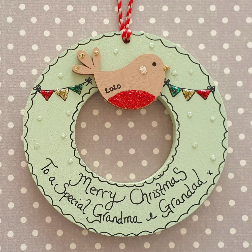 Mini Christmas Character Wreath