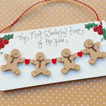Personalised Gingerbread Family