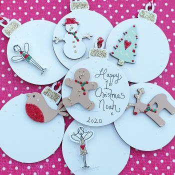 Personalised Tree Decorations (Assorted Designs)