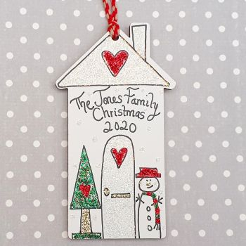 Personalised Sparkly House