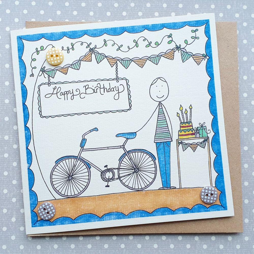 Birthday Boy and his Bike
